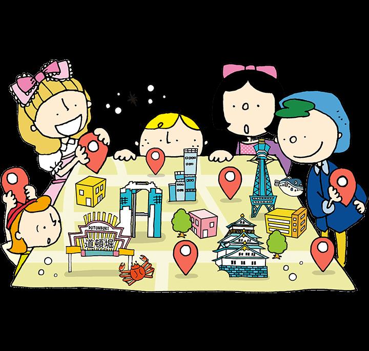 Osaka Travel Map